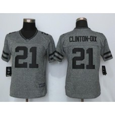 2016 Women New Nike Green Bay Packers 21 Clinton-Dix Gray Stitched Gridiron Gray Limited Jersey
