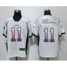 2017 New Nike New England Patriots 11 Edelman Drift Fashion White Elite Jerseys