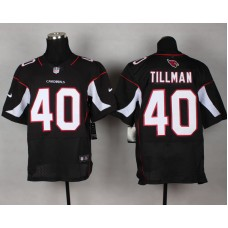 Arizona Cardicals 40 Tillman Black Nike Elite NFL Jerseys.