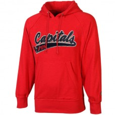 2016 NHL Old Time Hockey Washington Capitals Hudson Pullover Hoodie - Red