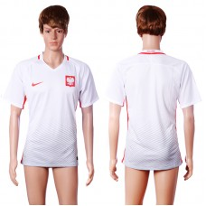 2016 European Cup Poland home Blank White AAA+ Soccer Jersey