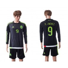 2015 Mexico Copa America 9 R.JIMENEZ Long Sleeve Home Jersey